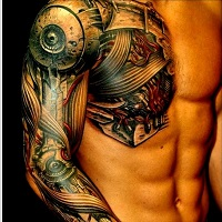 biomechanical tattoo in dubai